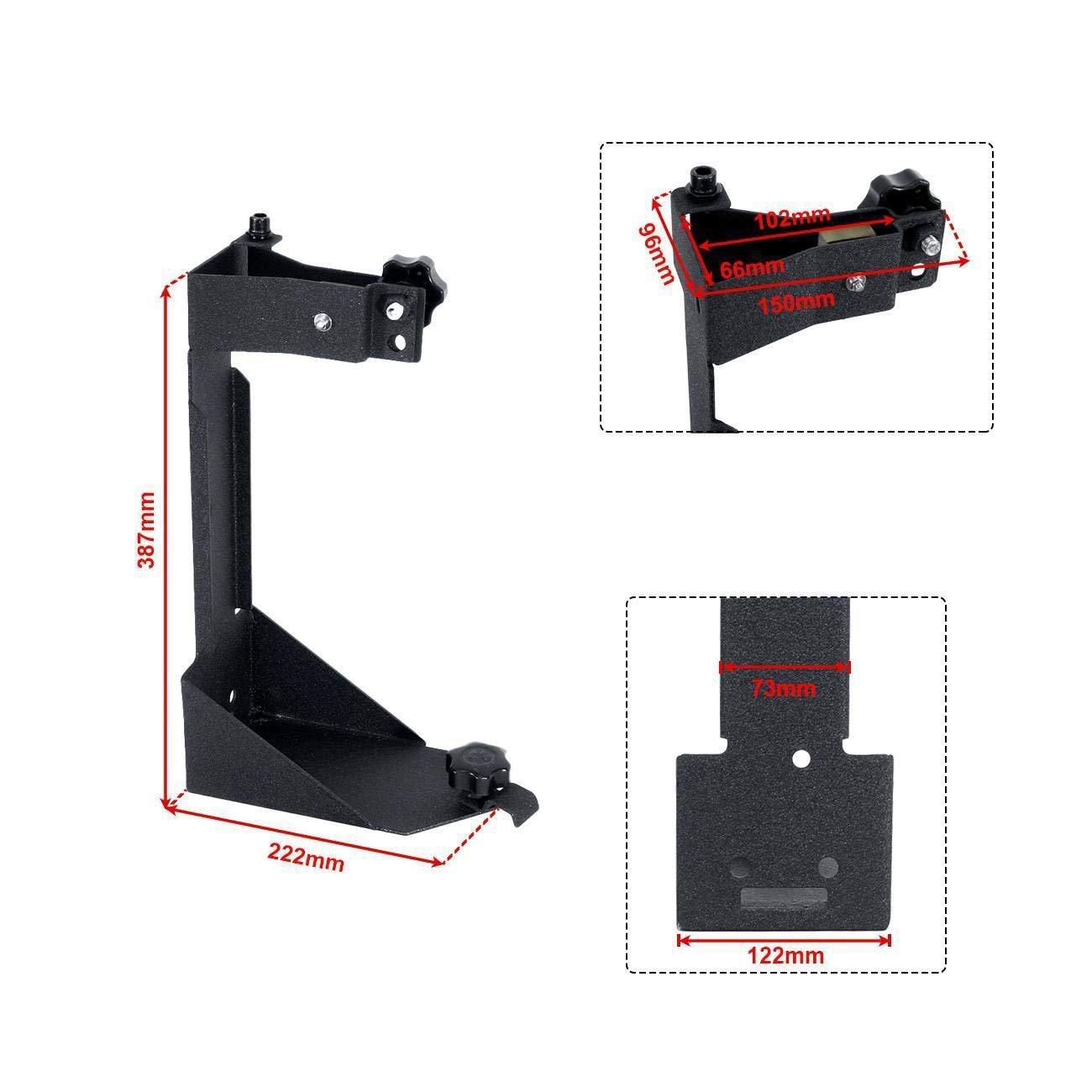 ALAVENTE Off-Road High Lift Jack Mount Spacer Bracket Rear Hi Lift Mounting Kit for Jeep Wrangler JK 2007-2017 4350426389