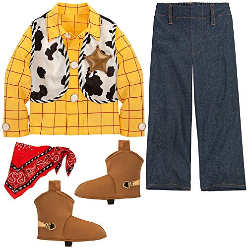 [Disney Store Toy Story Sheriff Woody Halloween Costume Size XXS 3/3T] (Halloween Costumes With Red Bandana)