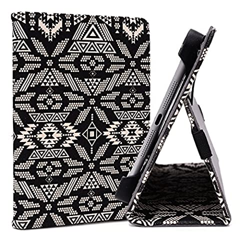 Tan Aztec Tribal Case Fits Insignia Flex 8-inch Flex Tablet | 7-8 inch Universal Stand Cover (Insignia 7 Tablet Case)