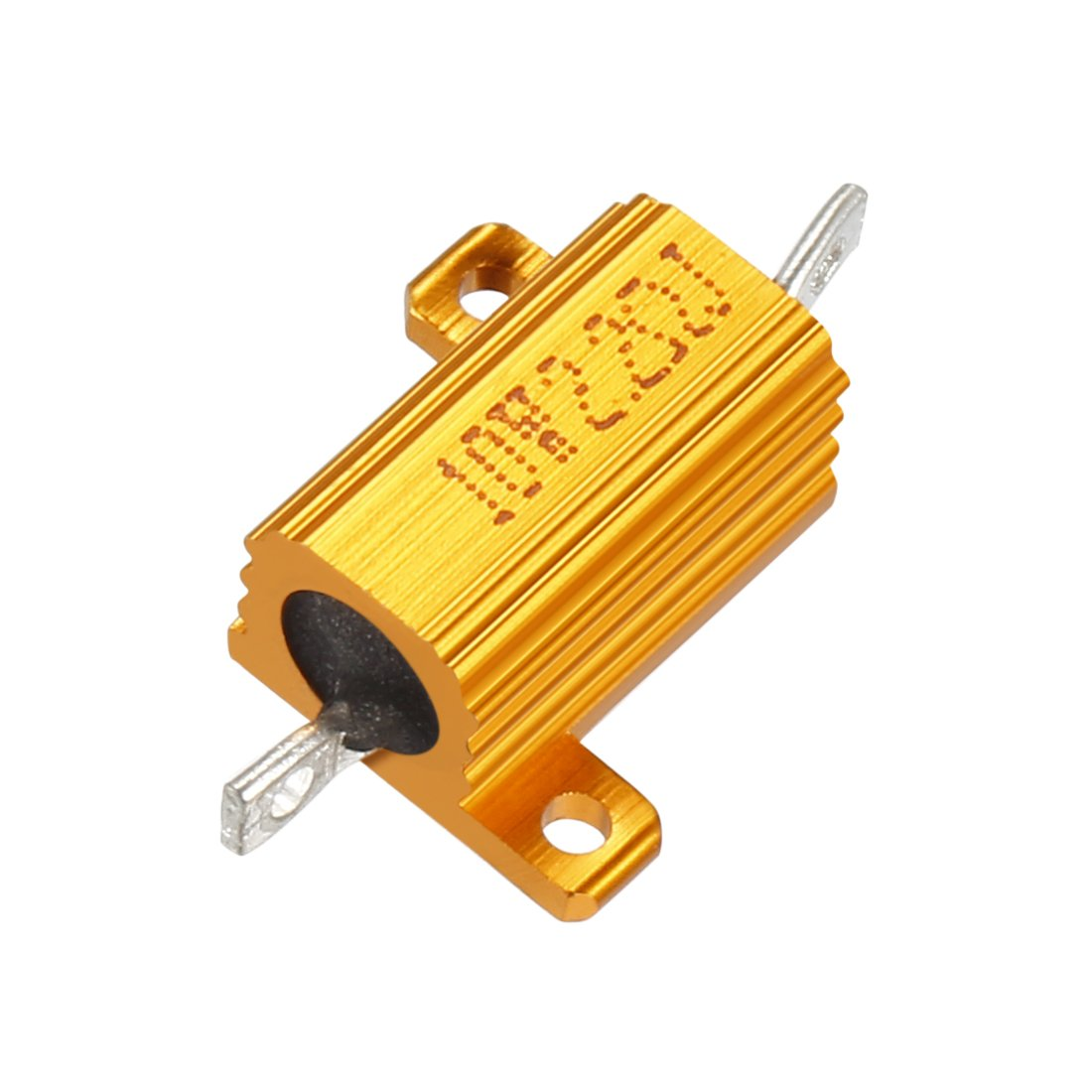 sourcingmap Aluminum Case Resistor 10W 2.2 Ohm Wirewound for LED Converter with Rod Post 10W2.2RJ