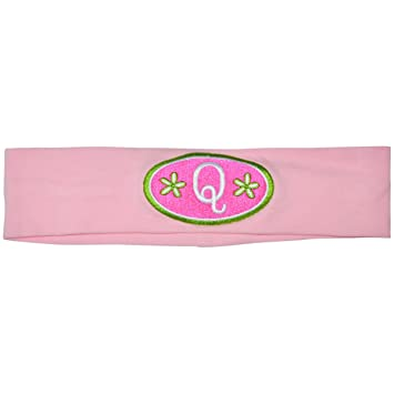 Amazon.com   Logo Loops Stretchy Embroidered Headbands for Girls with High  Fashion Initial Letter Designs (Q d854b610c6e