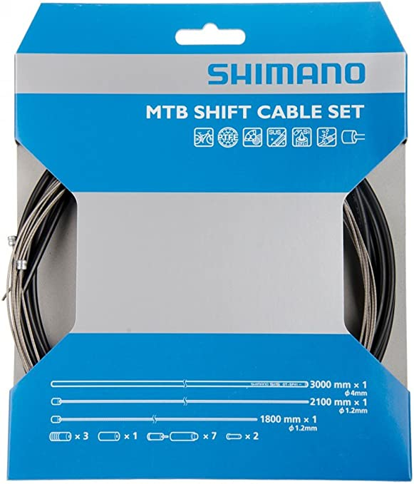 Shimano PTFE Coated Road Shift Cable /& Housing Kit White