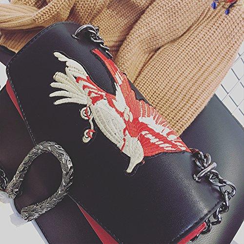 Chaîne à Sac De Bandoulière PU Main Verrouillage Boucle Black Bandoulière Sac Sac Mode à à Womens Ew4Ivqq