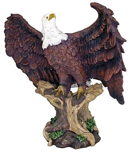 Large 18u0026quot; Height Perching American Bald Eagle Statue Home Garden Decor  Figurine