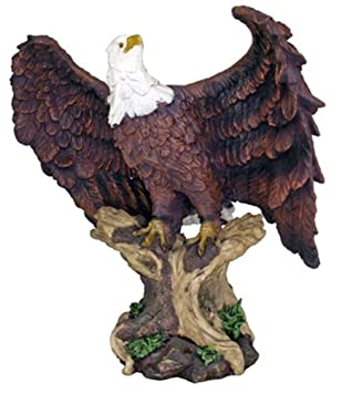 Lovely Large 18u0026quot; Height Perching American Bald Eagle Statue Home Garden Decor  Figurine