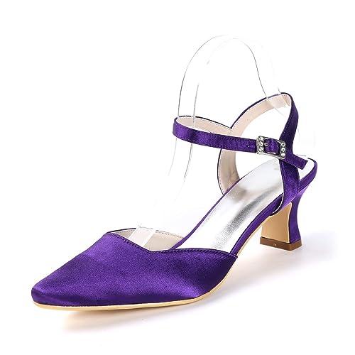 ce3633e892084 Elobaby Frauen Hochzeit Schuhe Chunky Spitzen Super Qulity High ...