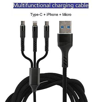 ETbotu Cable de Carga USB rápido Universal 3 en 1 Cargador ...