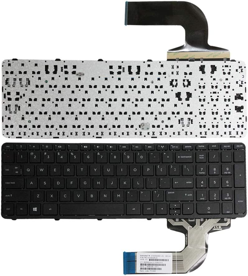 GinTai Replacement Keyboard with Frame Compatib HP Pavilio 15-d 15-f 15-g 15-r 15-e 15-f387wm 15-d035dx 15-f233wm 15-f272wm 15-f010wm 15-n290nr 15-e 15-f222wm 15-f271wm US Layout
