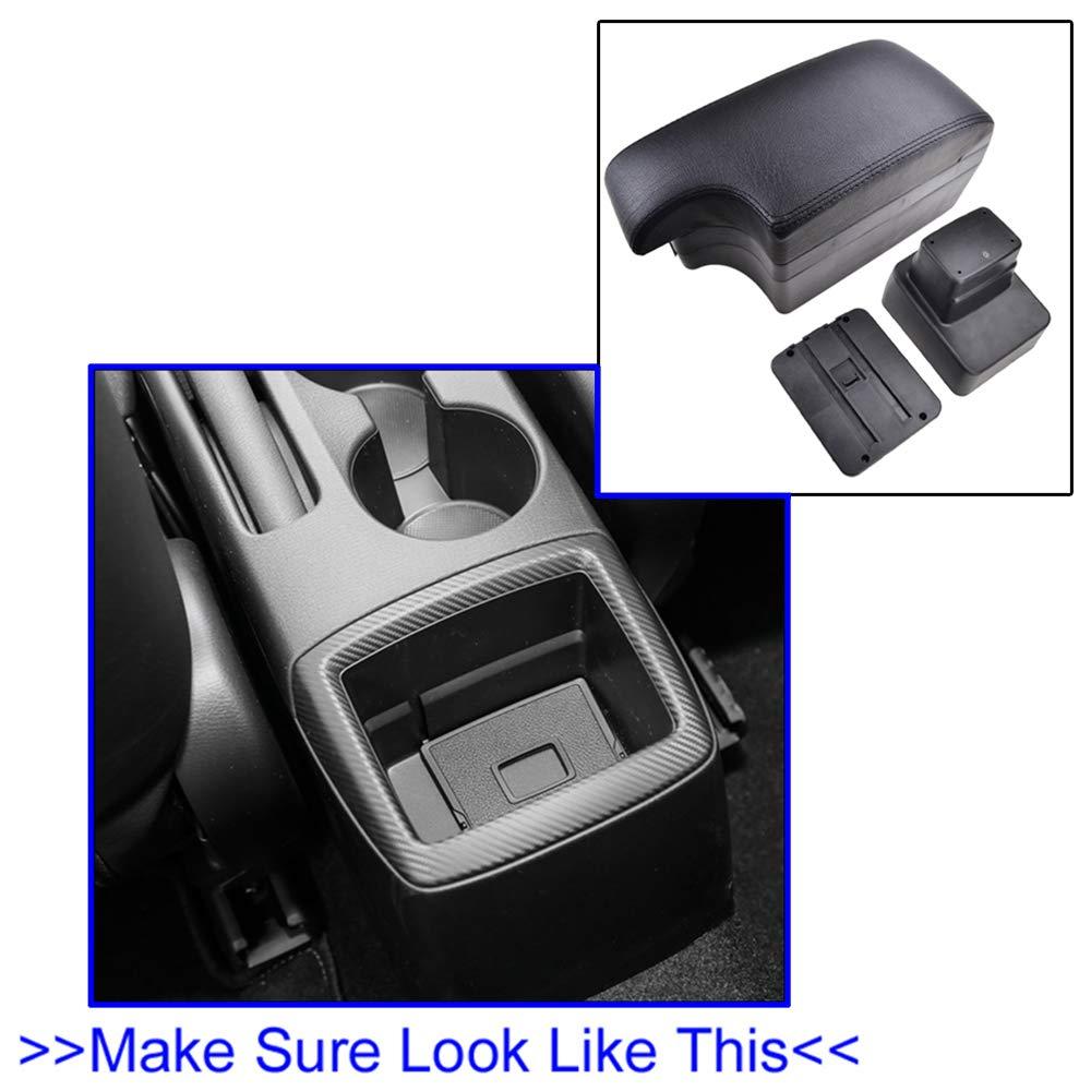 Dual-Layer Black Leather Arm Rest For CX-3 2015-2019 Centre Console Storage Box Armrest