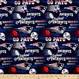 Traditions NFL Cotton Broadcloth New England Patriots Retro Navy, Fabric by the Yard