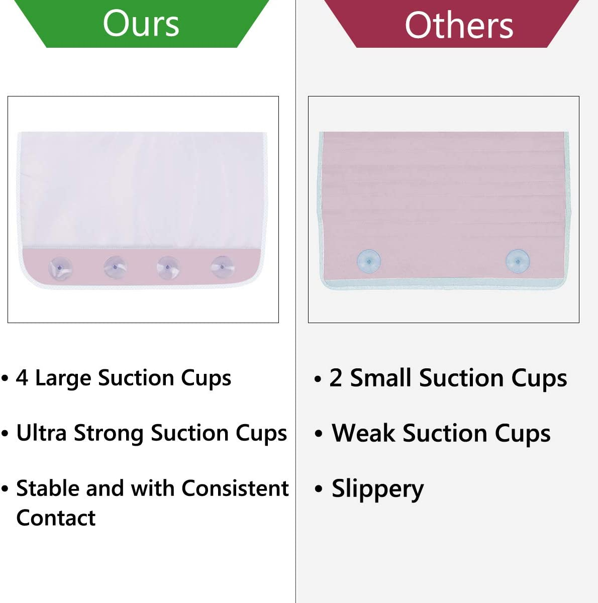 Exercise Detachable and Foldable Bathtub Mat for Parents Bath Kneeling Pad for Baby Bath Time Bath Kneeler and Elbow Rest 1.5 Thick Kneeling Mat with Toy Organizer Garden Work Pink