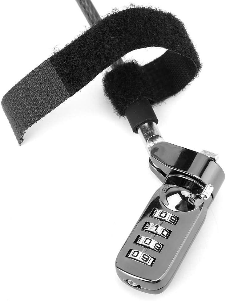 Garsent Verrouillage du Code de S/écurit/é Antivol Combin/é /à 4 Chiffres avec Codage du C/âble pour Ordinateur Portable pour Ordinateur Portable
