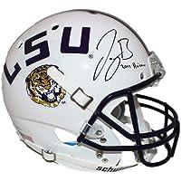 $615 » Joe Burrow Autographed LSU Tigers White Replica Helmet Heisman BAS 26178 - Beckett Authentication - Autographed College Helmets