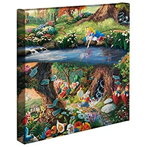Thomas Kinkade Studios Alice in Wonderland 14 x 14 Gallery Wrapped Canvas