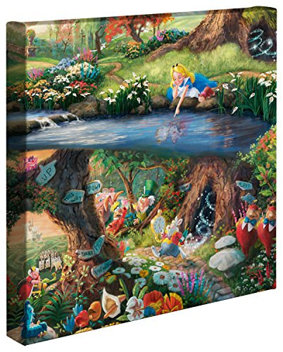 Thomas Kinkade Studios Alice in Wonderland 14 x 14 Gallery Wrapped Canvas ()