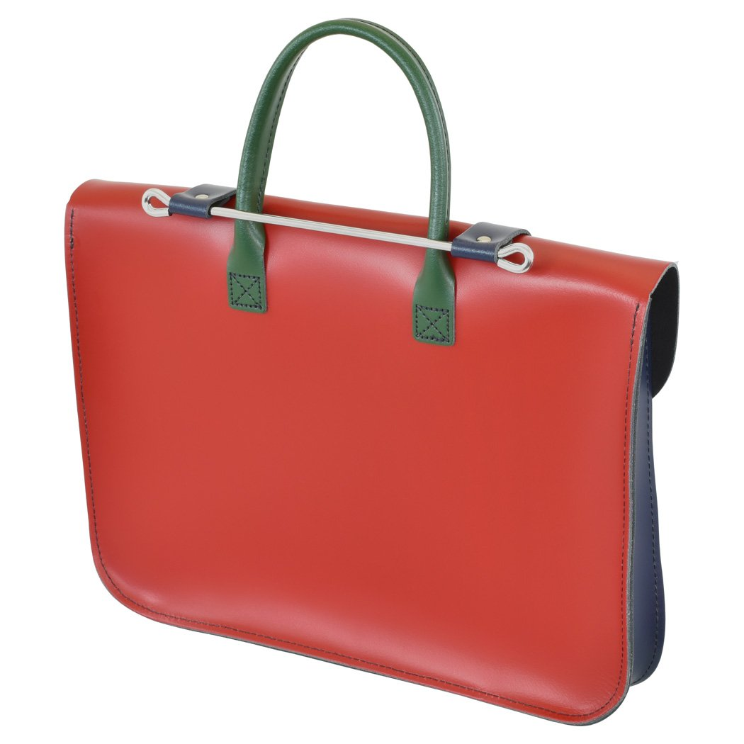 Oxford Traditional Leather MC1-MC Traditional Classic Leather Music Case, Mixed Colors by Oxford Traditional Leather (Image #2)