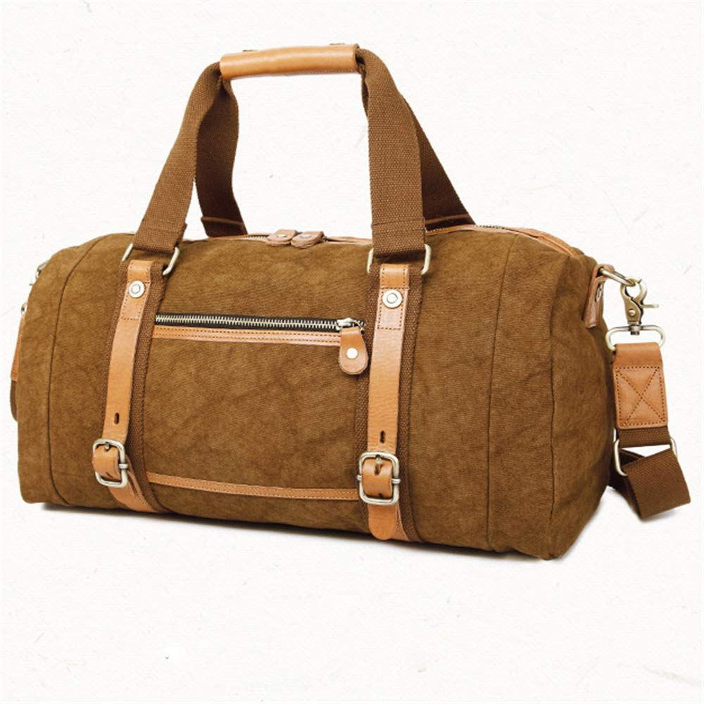 71aa4449ad89 Amazon.com: Ybriefbag Unisex Canvas Traveling Bag, Retro Travelling ...