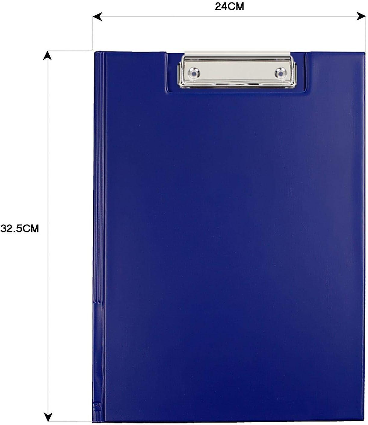 OfficeCentre Black A4 Quality Folding Clip Board Waterproof Paper Storage Pen Holder
