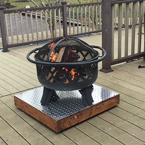 Glide-Easy Plus Rustic Hand Made Outdoor Heavy Duty Deck Patio Stand Rustic Fire Pit Accessories