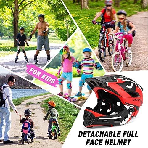 Afneembare integraalhelm, lichtgewicht jeugdrolschaatshelm voor fietshelm voor 3-15 jaar kinderfiets,Pink