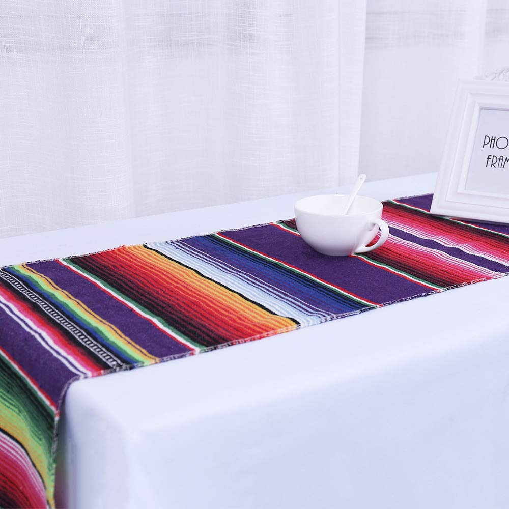 Humorous.P 8 Pieces Mexican 14inx108in Table Runners Cotton Table Runners for Theme Party by Humorous.P (Image #2)