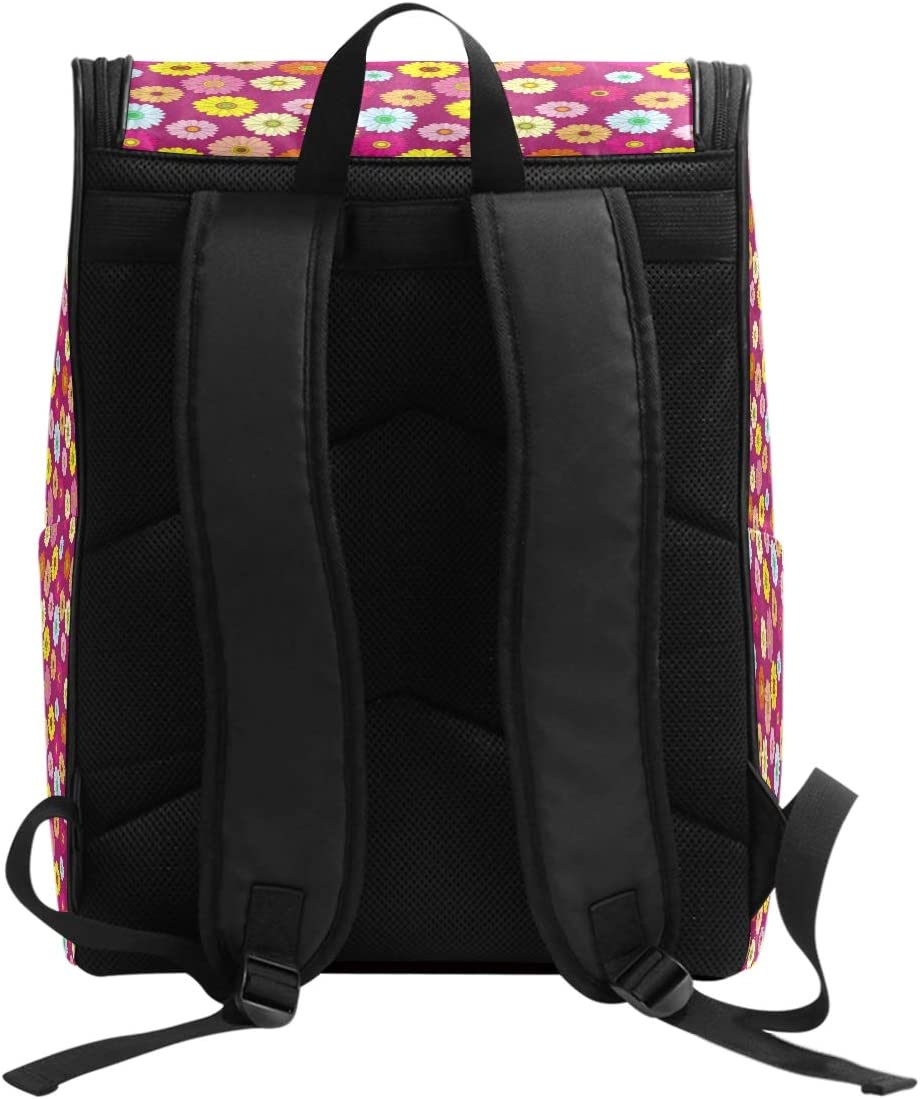 FAJRO Colorful Floral Pattern Travel Hiking Backpack Daypack Camping Backpack Outdoor Sport Backpack
