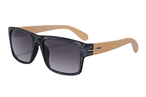 SHINU Gafas de Sol Gafas de Sol de los hombres Gafas de Sol Marco de Bambú Gafas de Sol de Moda Modelo SH71012