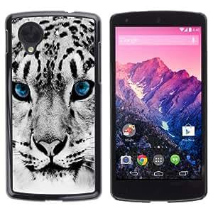 iKiki-Tech Estuche rígido para LG Google Nexus 5 - Beautiful Snop Leopard