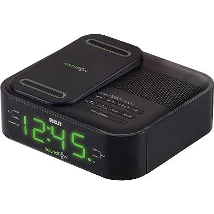 RCA RC250BK Reloj Negro - Radio (Reloj, FM, LED, 2,29