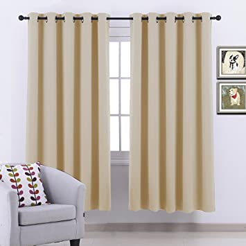 Ponydance Thermal Insulated Top Rings Blackout Curtains Drapery ...