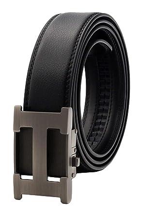 QHA Mens Designer Belts Automatic Ratchet Belt For Men Luxury Auto Buckle Gift