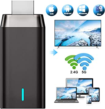 WiFi Display Dongle 4K, DIWUER 5G / 2.4G HDMI Adaptador De Pantalla InaláMbrico Receptor para Android / iPhone / iPad / Windows / Miracast / Mac OS a TV / Proyector / Monitor: Amazon.es: Electrónica