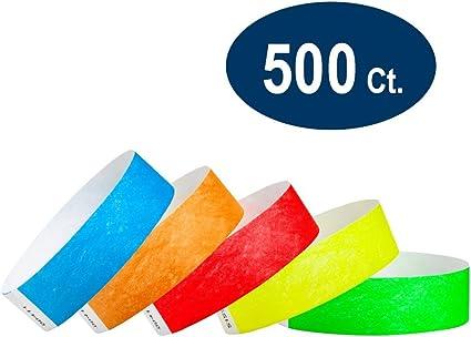 "100 Plain Sky Blue 3//4/"" Tyvek Paper Wristbands for Events,Festivals,Parties"