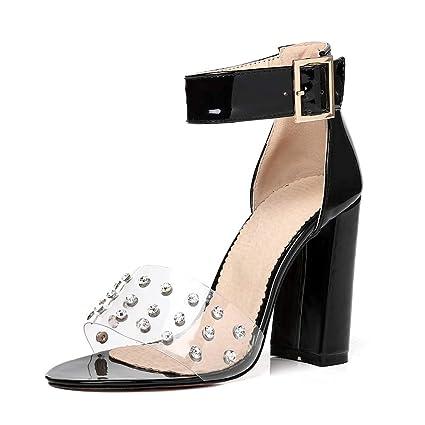 meet 63216 a06c3 MENGLTX High Heels Sandalen Neu Plus Größe 34-48 Metall ...