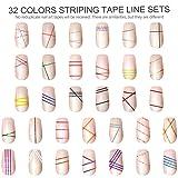32 Colors Nail Striping Tape Line, FANDAMEI