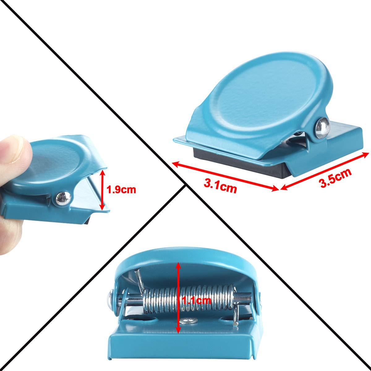 Ufficio Lavagna bacheca Wukong 14 Pezzi 7 Colori Clip magnetiche Metallo Calamite Gancio Clip Clip Frigorifero magneti per Frigorifero Cucina
