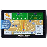 FREELLIGENT SAT NAV GPS Navigation 7 inch HD Universal GPS Smart Voice Reminder 8 GB ROM 256 MB Global Navigation Satellite System - Newest Map + Lifetime Free Updates