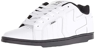 45275e39719530 Image Unavailable. Image not available for. Colour  Etnies Fader 2 White  Black Mens Leather Skate Trainers
