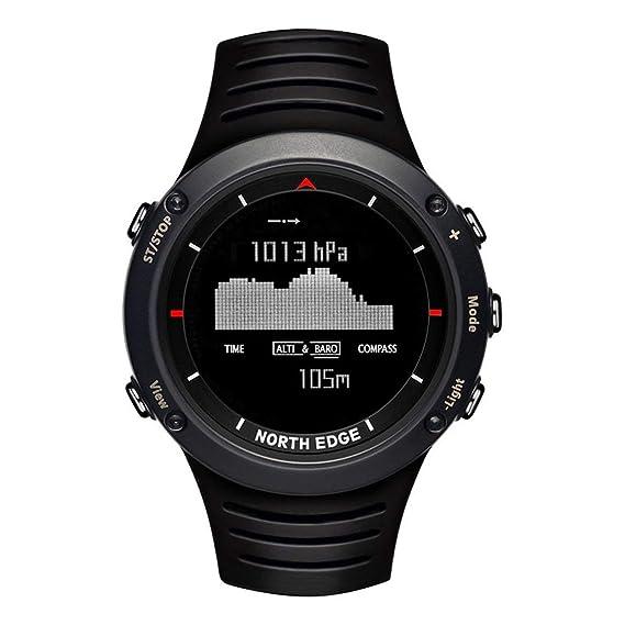 North Edge Altay Reloj Deportivo Inteligente para Exteriores Reloj Impermeable Digital Inteligente a Prueba de Agua 50m para Hombres Senderismo Viajar: ...