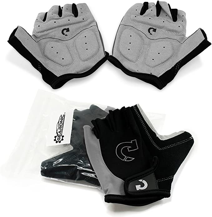 Best Cycling Gloves: GEARONIC Cycling Shockproof Foam Padded Sports Full Finger Short Gloves
