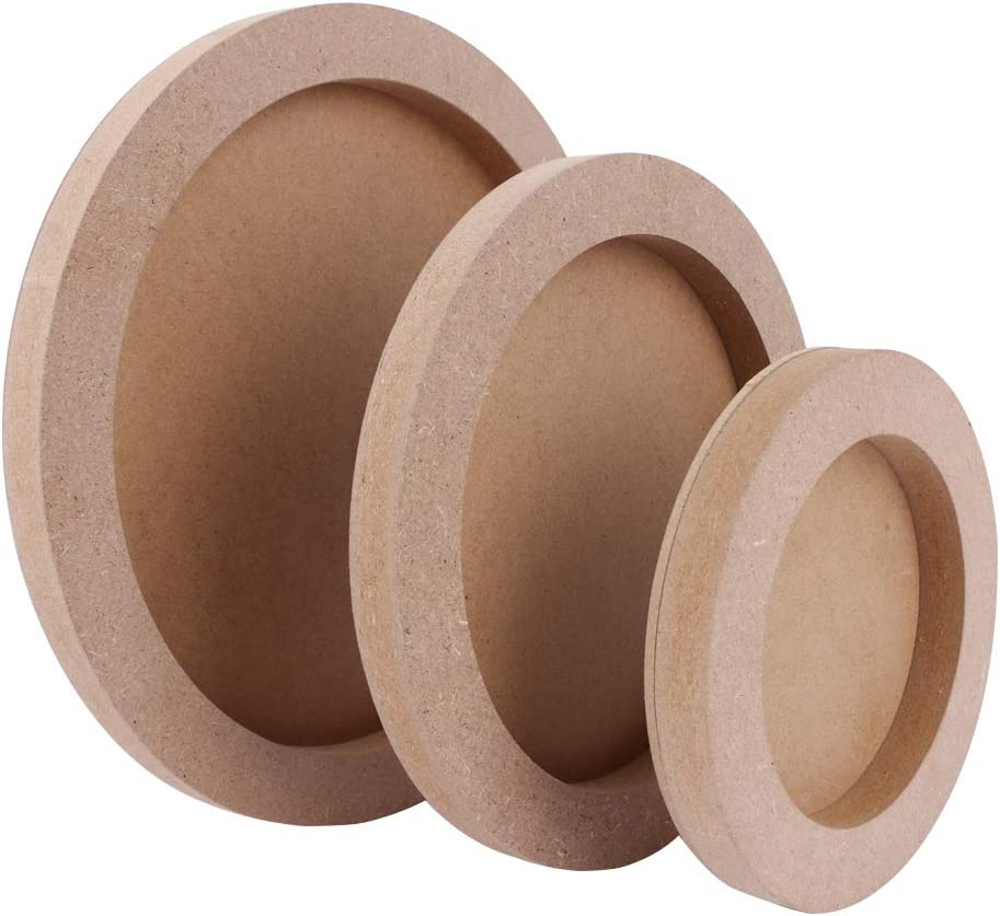 Art /& Craft Wood Canvas Boards for Painting 3 Pcs Round Unfinished Wood Paint Pouring Panel Boards 0.6 Deep Cradle Artist Wood Painting Boards for Painting 5.7, 7.8 /& 9.7 Diameter