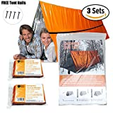 Mylar Survival Shelter Tent • 2 Person and Emergency...