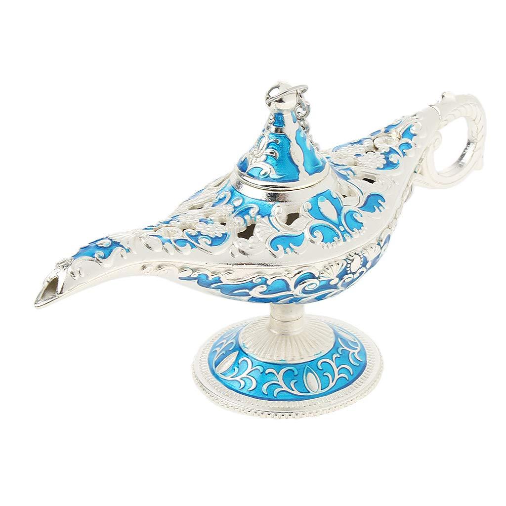 perfk L/ámpara Cl/ásica de Aladdin de Metal Decorativos Herramientas Industrial Suministro de M/áquinas Azul plateado