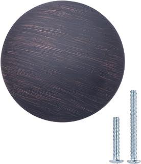 Basics - Pomolo tondo per mobili, Diametro: 2,99 cm, Argento anticato, Confezione da 25 pezzi