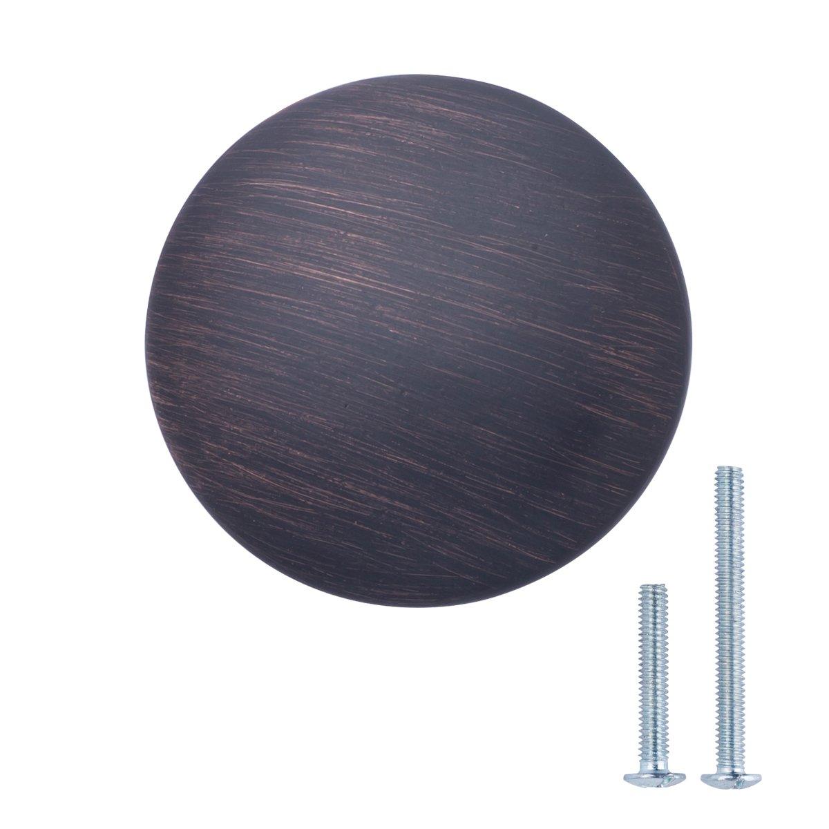 Basics - Pomolo tondo per mobili, Diametro: 2,99 cm, Bronzo anticato, Confezione da 10 pezzi AB100-OR-10