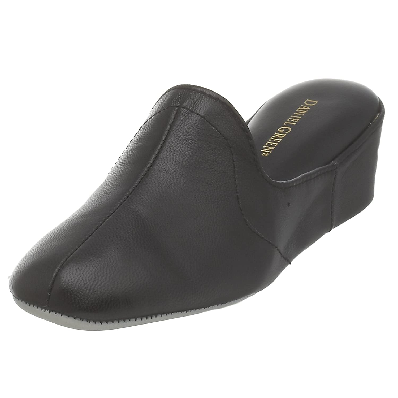 Daniel Green Women's Glamour Slipper B000FHH9V6 6 W US|Black Kidskin