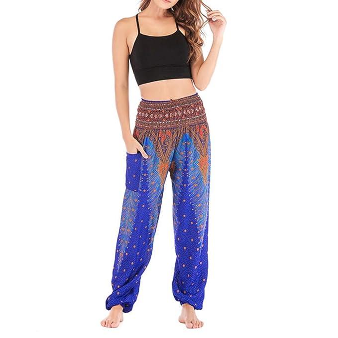 QIYUN.Z Pantalones de Pilates Azules de Yoga para Hombre con ...
