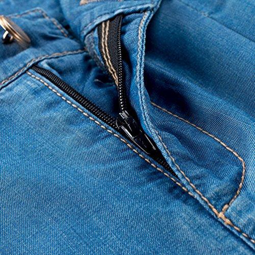 Alto Sciolto Donna Casuale Anguang Jeans Vita Pantaloni All'aperto Blu Denim Hw5fqUqAx
