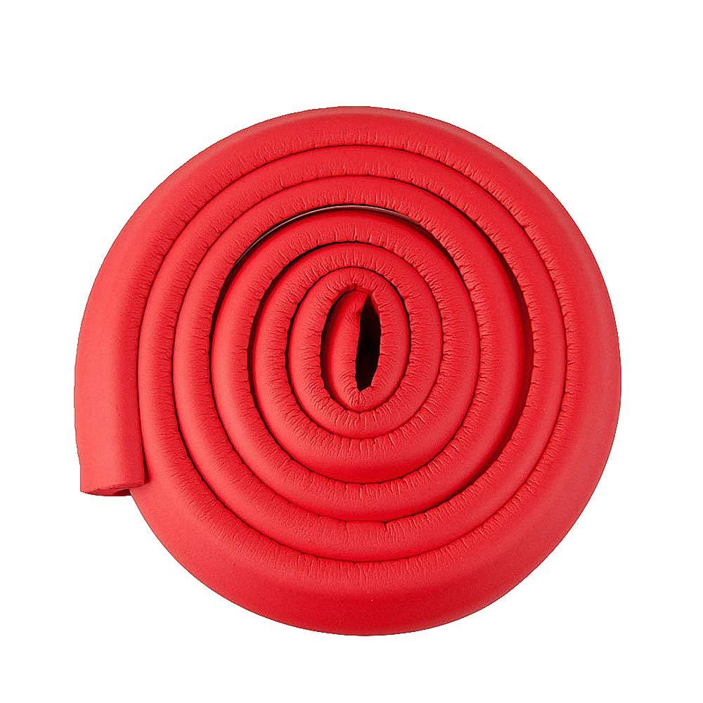 Protectores de espuma para bordes de mesa. Protector de parachoques de seguridad para bebés de 2 m. Esquinas no tóxicas y seguras para cama, mesa, armario, chimenea, encimera rosa rosa huici