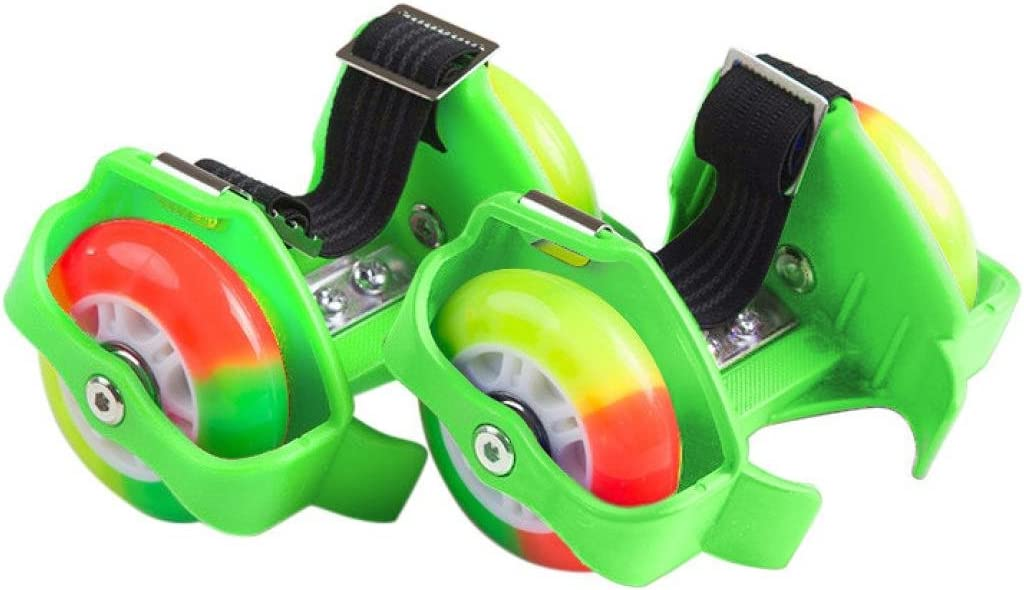 dreamyth新しい子ダブルホイールローラーシューズローラースケート大人用オス靴Heelysローラー グリーン